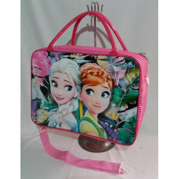 TAS TRAVEL BAG KOPER SELEMPANG LONDON PARIS TOBOT FROZEN UKURAN BESAR