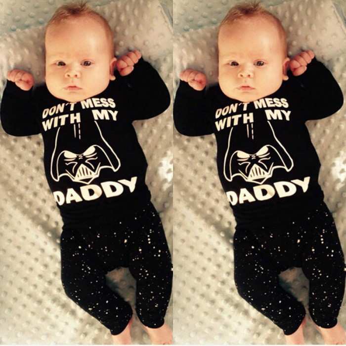 KAOS BABY STARWARS IMPORT DONT MESS WITH MY DADDY-3T-K482-Top