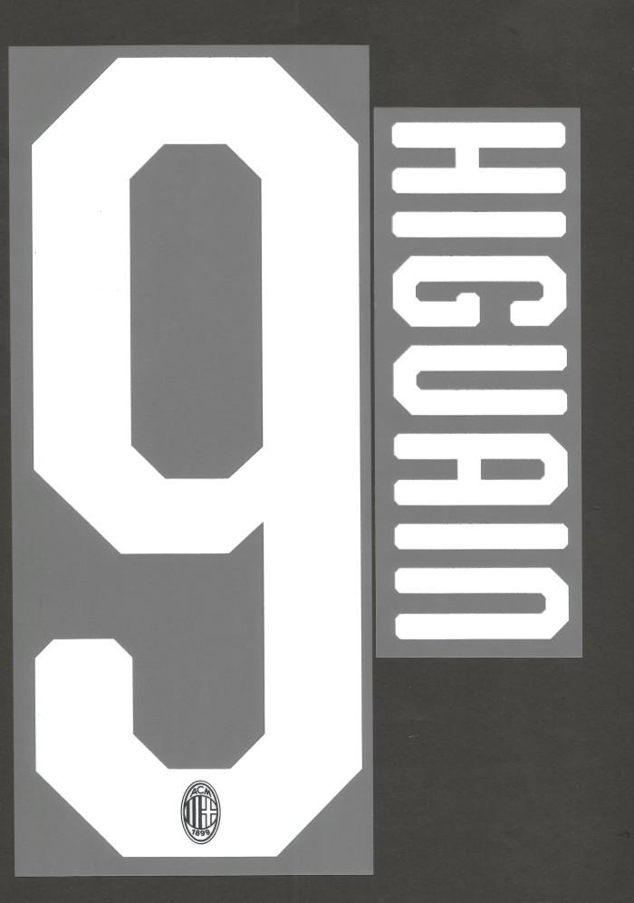 harga Nameset ac milan 2018-19 home/3rd.higuain. original nameset for jersey Tokopedia.com