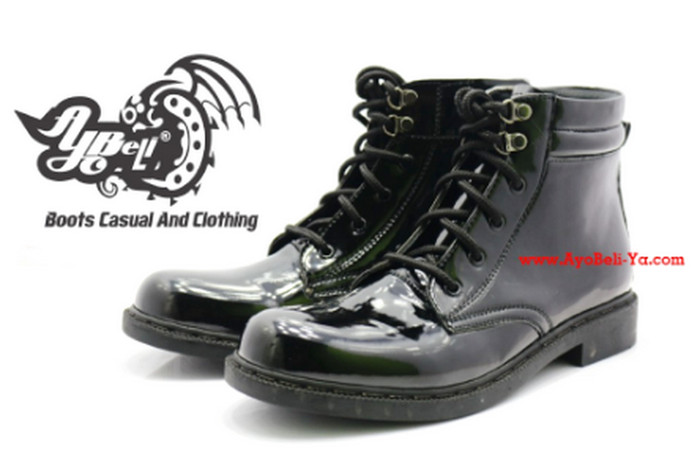 Sepatu PDH TNI POLRI Bertali Sleting - Sepatu Boot Pria- 13-NN-BULAT -  Hitam 754877ea04