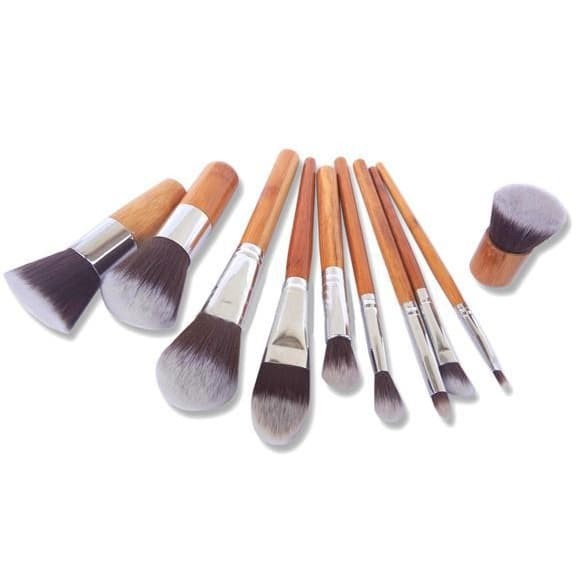Cosmetic make up brush 11 set with pouch / kuas make up set makeup