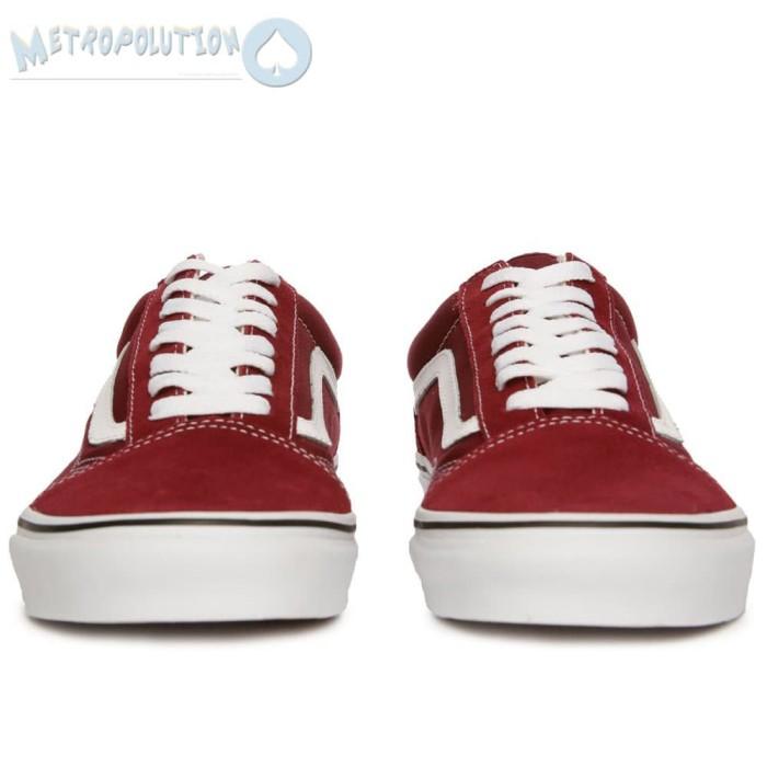 d91661daac13ed ... Sepatu Vans Old Skool Classic Skate Suede Premium Quality Merah Maroon  - Blanja.com