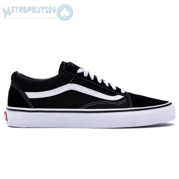 bd3591cb270248 ... Sepatu Vans Old Skool Classic Skate Suede Premium Quality White Black -  Blanja.com ...