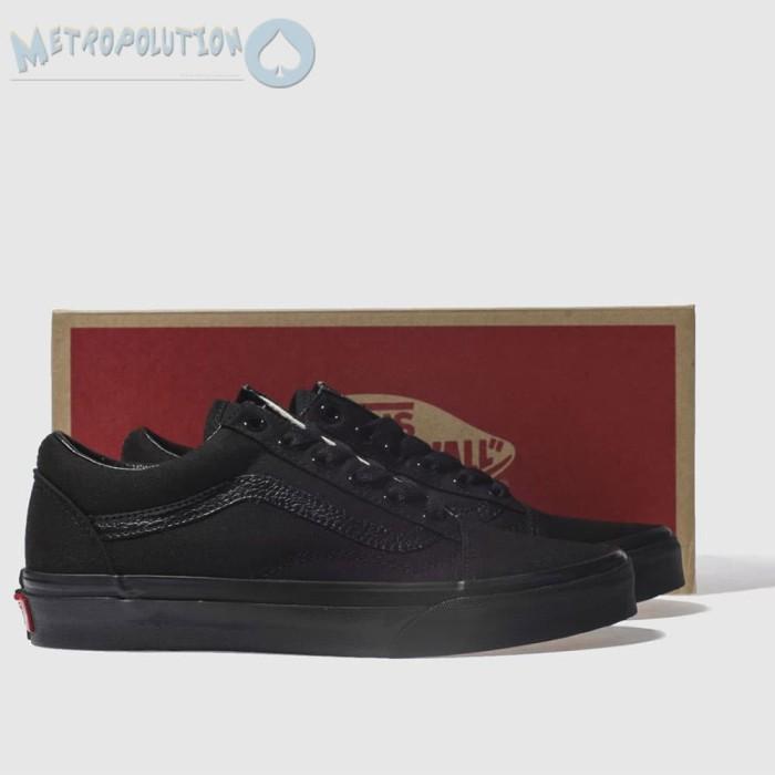 Sepatu Vans Old Skool Classic Skate Suede Premium Quality Full Black