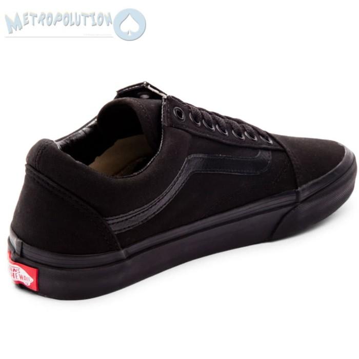 076d7ec6c49834 ... Sepatu Vans Old Skool Classic Skate Suede Premium Quality Full Black -  Blanja.com ...