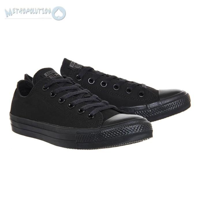 Jual Sepatu Converse All Star Chuck Taylor Unisex Full Black ... aad524bf2
