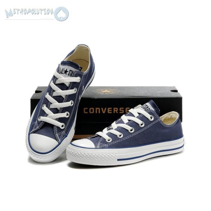 Jual Sepatu Converse All Star Chuck Taylor Unisex Biru Navy  1434040c6