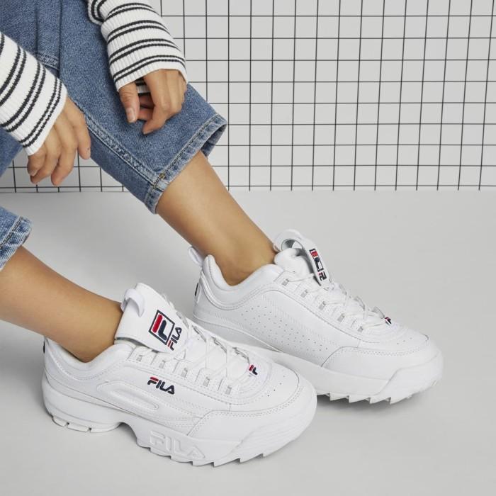 Jual Sepatu Korea Fila Disruptor 2 Premium Quality - Full White ... dcbd3dd9da