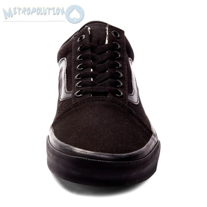 8ff2bf6152f95f ... Sepatu Vans Old Skool Classic Skate Suede Premium Quality Full Black -  Blanja.com