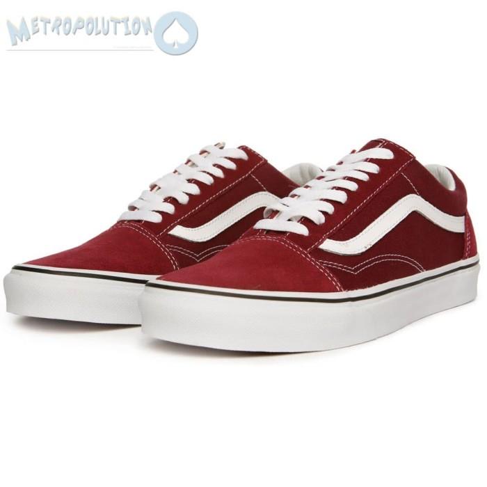 harga Sepatu vans old skool classic skate suede premium quality merah maroon  Tokopedia.com 0c3b6ff868