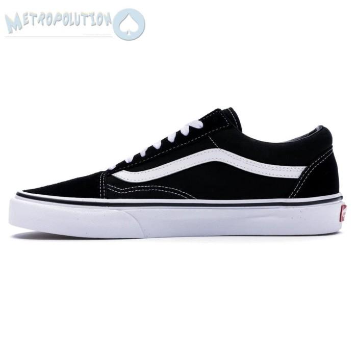 d9d17c2b2d5809 ... Sepatu Vans Old Skool Classic Skate Suede Premium Quality White Black -  Blanja.com
