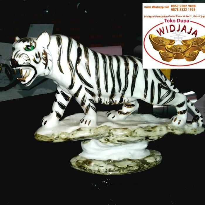 Jual Rupang Patung Harimau Putih Bahan Keramik Import Jakarta