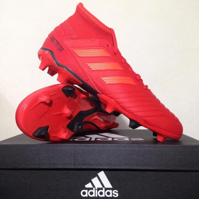 Promo Sepatu Bola Adidas Predator 19 3 Fg Active Red Bb9334
