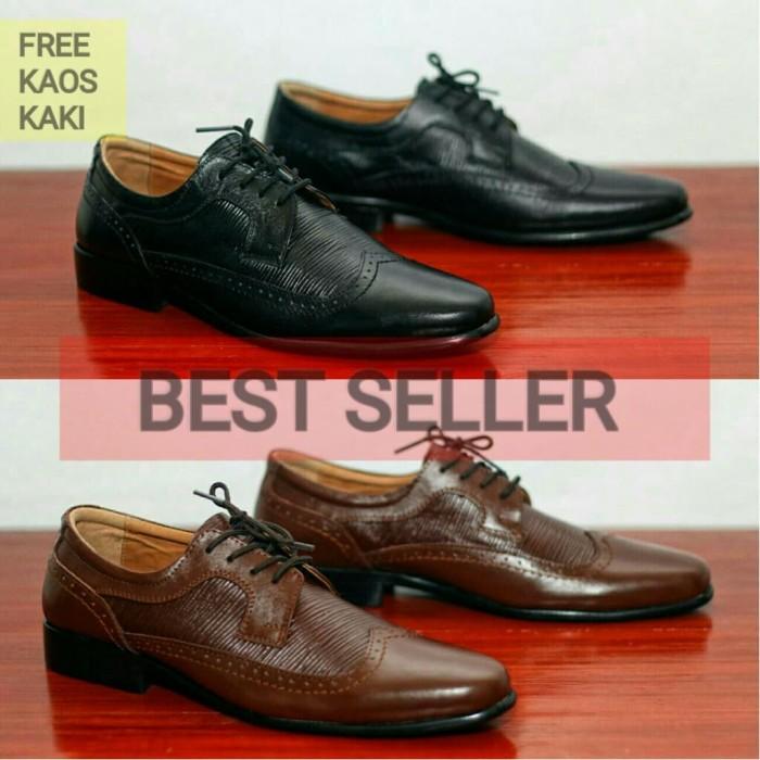 harga Sepatu kulit kerja formal pria pantofel bally wingtip Tokopedia.com