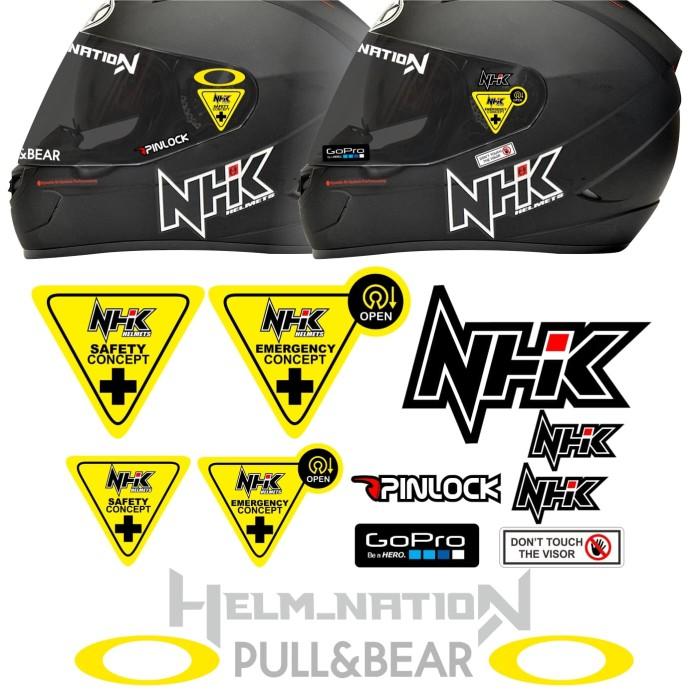 Foto Produk Paket Stiker Visor @helm_nation Helm KYT kbc LS2 NHK - NHK dari @helm_nation