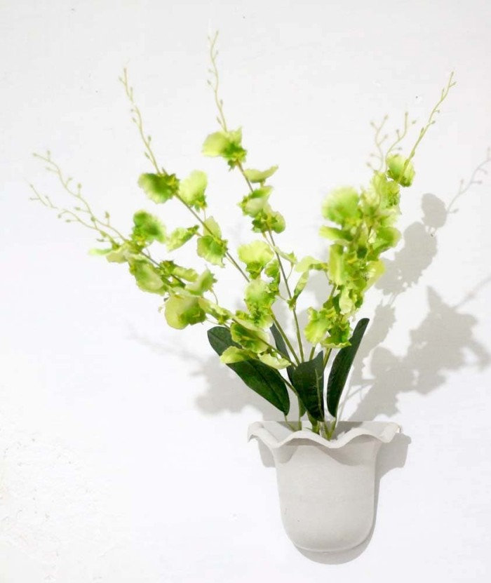 Bunga plastik hias artificial golden shower shabby + pot dinding 5 37f24d55b4