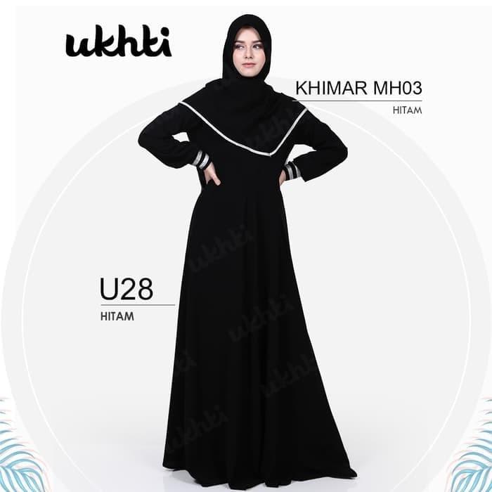Beli Sale Gamis Syari Ori Ukhti U 28 Size Xl Bahan Jetblack Premium