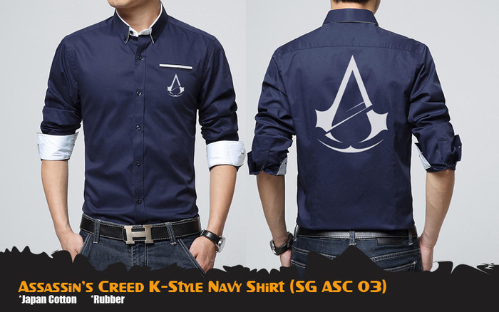 Jual Kemeja Anime Game Assassin Creed Korean Style Shirt Sg Asc