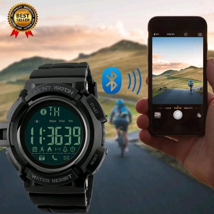... Jam Tangan Olahraga Smartwatch Bluetooth Dg 1245 Bl Skmei Original
