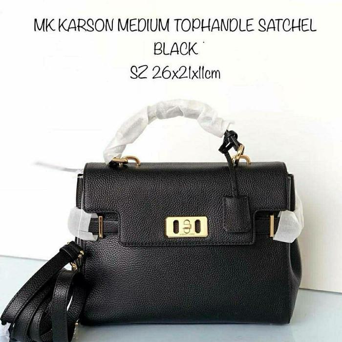 41848e31ce43 Jual Tas Michael Kors Original MK Karson Medium Top Handle Satchel ...