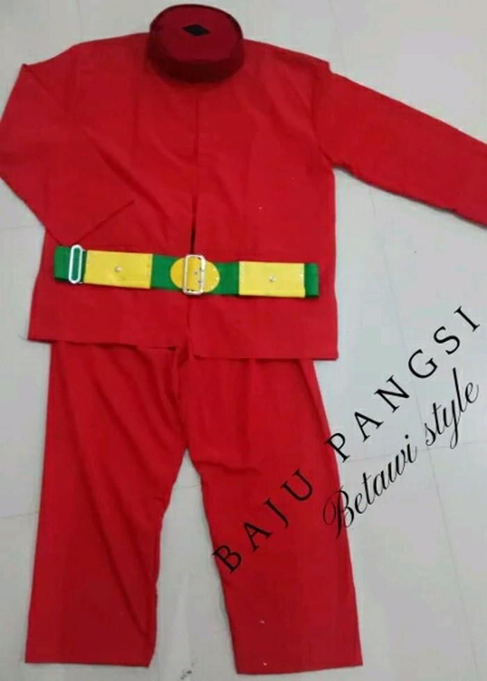 Jual Model Baru Baju Setelan Pangsi Betawi Dewasa 1 Set Baju Celana