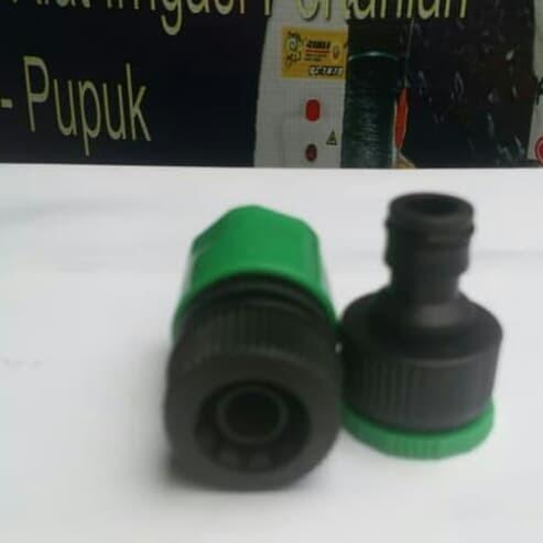 Quick konektor female 1/2  / 3/4  ke selang 16mm