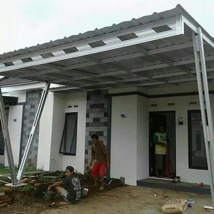 Gambar Kanopi Kayu Minimalis jual kanopi baja ringan atap spandek jaman now kab bandung abdijayastell tokopedia
