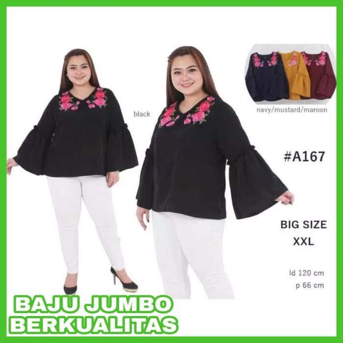 8f5b1547dda Harga Jual BARU Baju Atasan Wanita Big Size Baju Kerja Jumbo Blouse ...