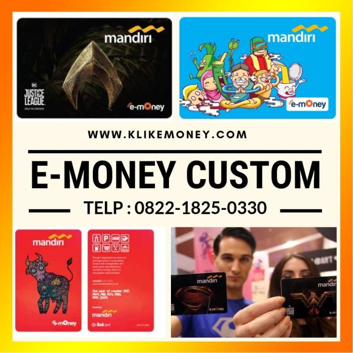 Foto Produk (2 SISI) MINIMAL ORDER 10 PCS Custom emoney mandiri design bebas !!! dari emoney custom kartu