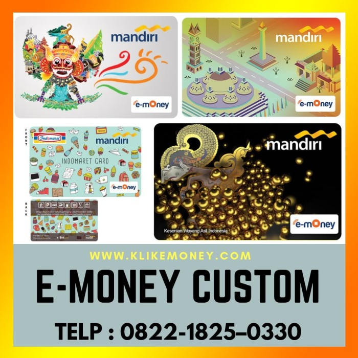 Foto Produk custom emoney 50pcs 2 sisi dari emoney custom kartu