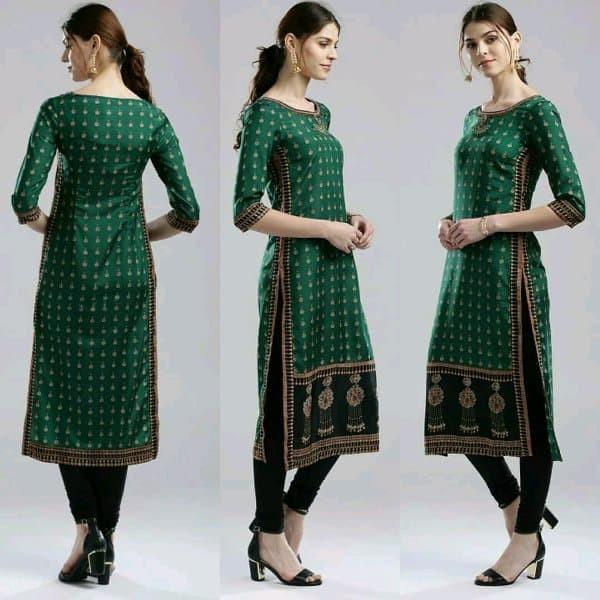 Jual Dress Laris Kajal Id Green Kurta Tunik Baju Muslim India Rungkut Kokonutshop Tokopedia