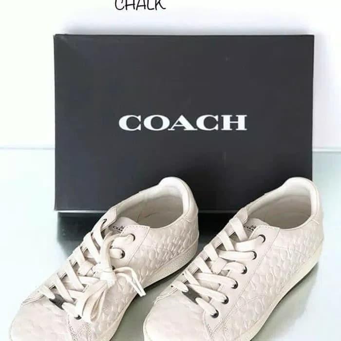 Jual Original Sepatu Wanita Coach Signature Embossed Chalk Kota