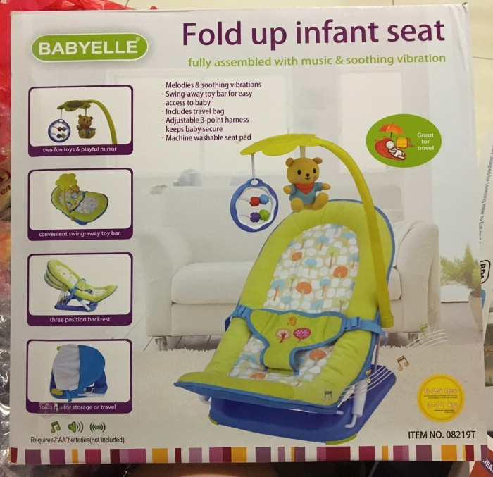 BABYELLE FOLD UP INFANT SEAT - HIJAU
