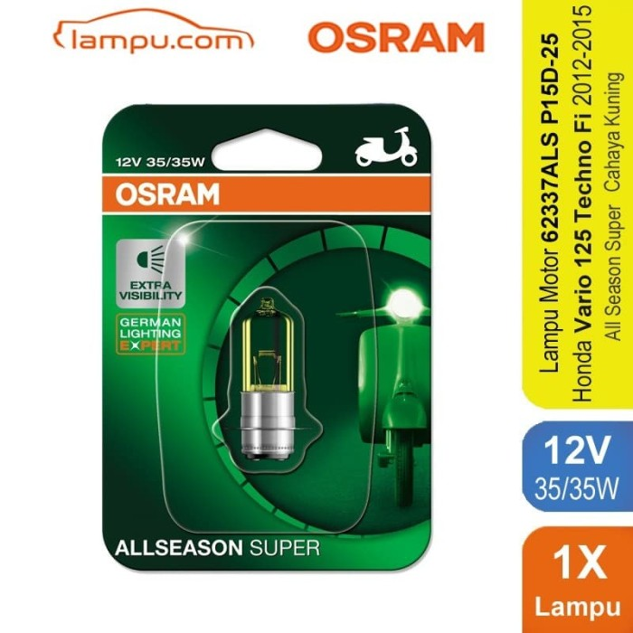 harga Osram lampu depan motor vario 125 techno fi 2012-2015 - 62337als Tokopedia.com