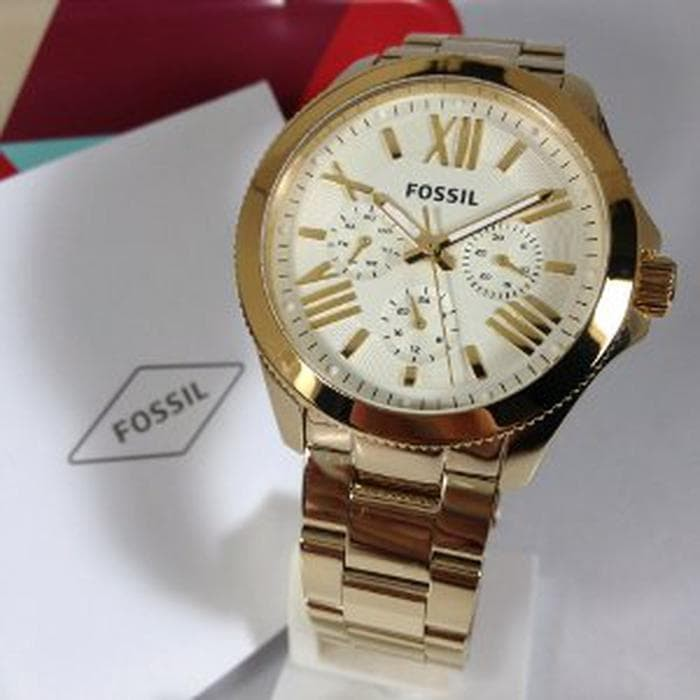 Fossil AM4510 gold 40mm Lady Original Promo gede