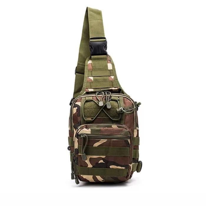 Tas selempang slempang cowok pria army tactical sling waist tote bag