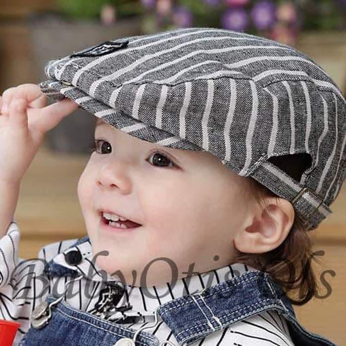 ddd2cab7 Jual (Termurah!!) Topi Pet Topipet Bayi Flat Cap Baby Topi Anak Bayi ...