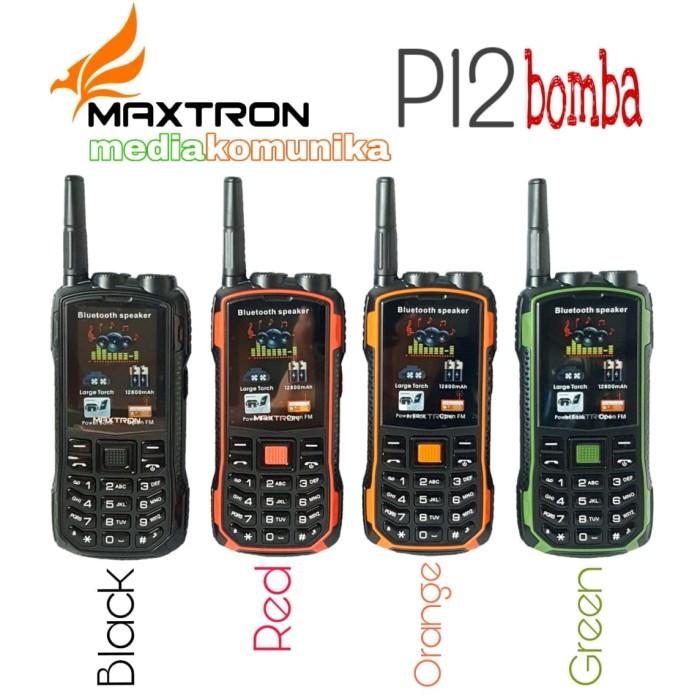 harga Maxtron p12 bomba hp outdoor antena hp powerbank bluetooth speaker Tokopedia.com