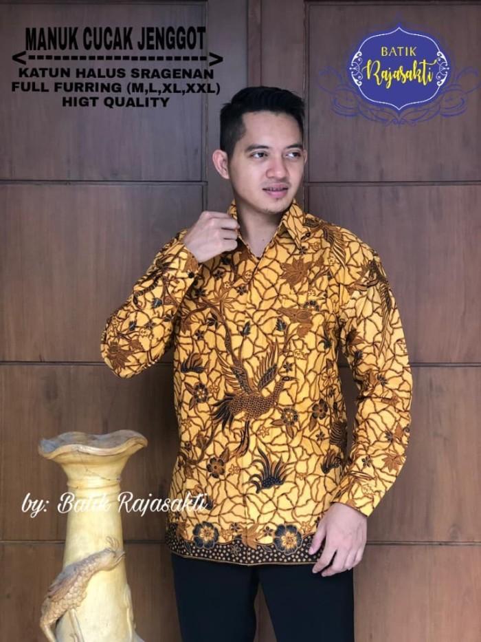 harga Batik solo kemeja batik panjang manuk cucak jenggot rajasakti batik Tokopedia.com