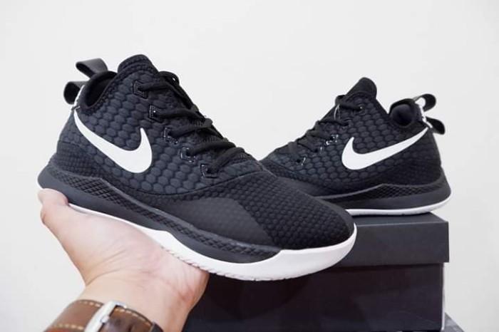 987ef28799ff Jual sepatu basket nike lebron witness 3 black white grade original ...