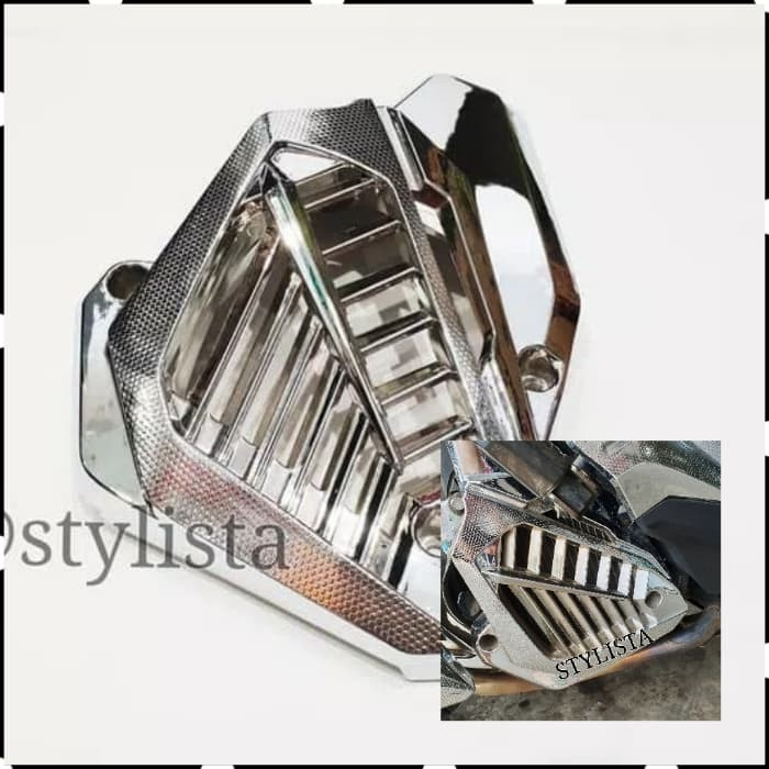 harga Cover tutup radiator vario 150 chrome aksesoris motor Tokopedia.com