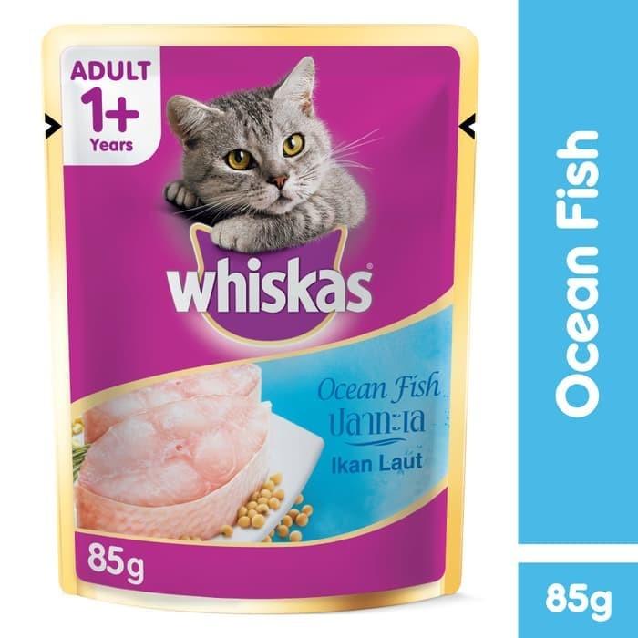 harga [isi 6 pack] whiskas pouch 85gr makanan kucing basah rasa ocean fish Tokopedia.com
