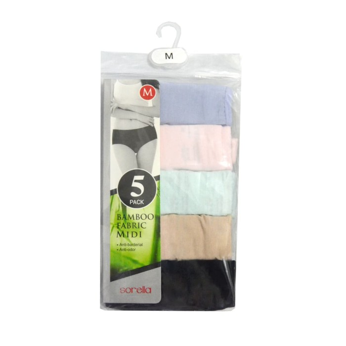 Jual Sorella Bamboo Panty Packing Midi S25-073019MIX - MIX - sorella ... 43ac83f4b5