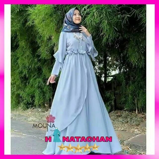 Jual Baju Gamis Syari Terbaru Mauna Dress Wanita Remaja Modern Kota Bandung Hinatachan Tokopedia