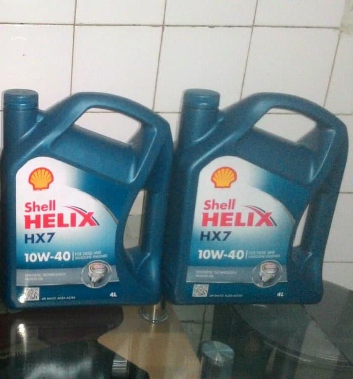 Oli Shell HX7 SAE 10w 40 Galon 4 Liter