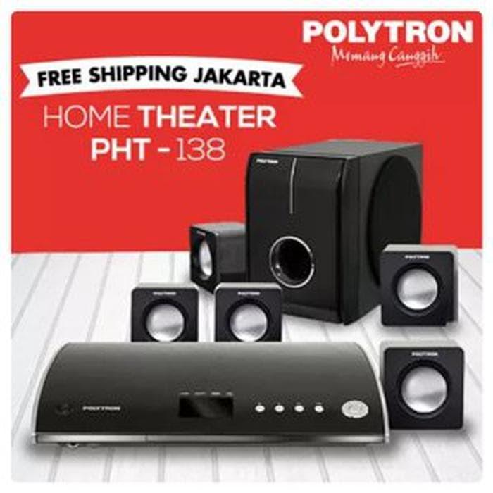 HOME THEATER POLYTRON PHT-138 New BLACK GLOSY anti Shock Free Ongkir