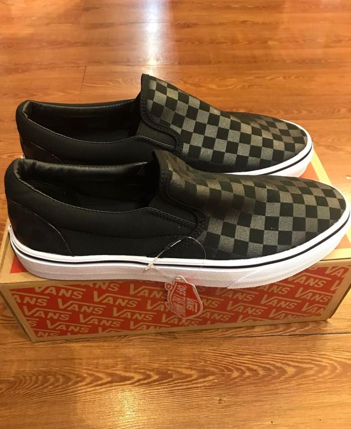 Jual ORI Vans Classic Slip-On Checkerboard Black Original Quality ... 940976f429