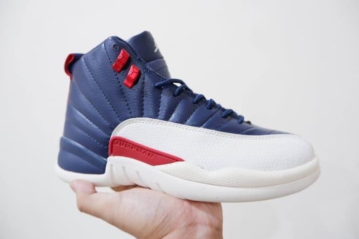 buy popular 407b2 a2f1f Jual Sepatu Basket Air Jordan 12 International Flight Navy Blue White Putih  - Kota Batam - AJ Basketball Store   Tokopedia