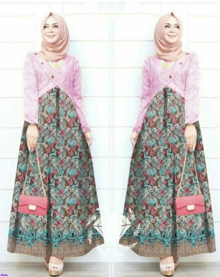 30 Desain Baju Batik Gamis