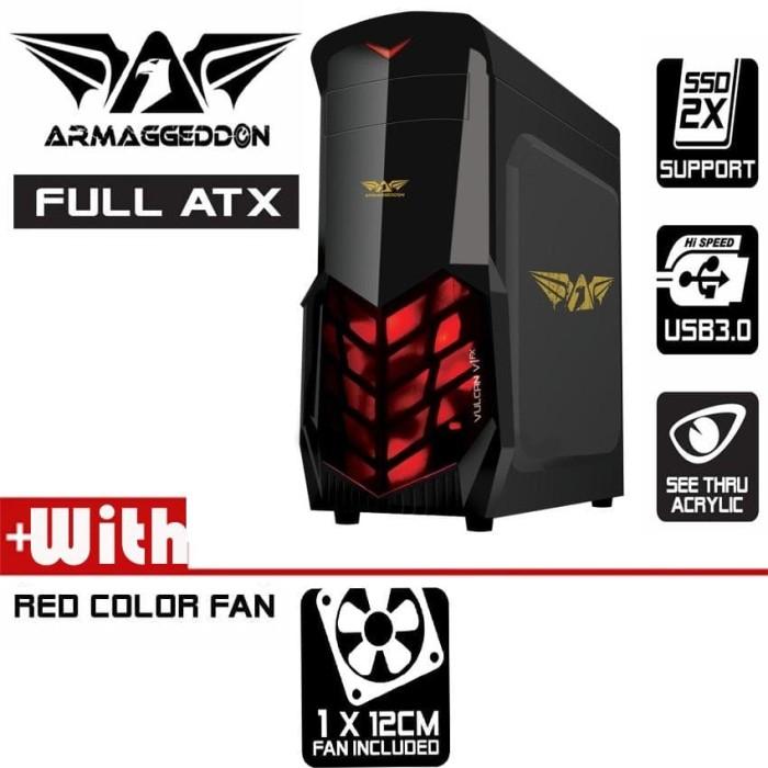 Armaggeddon Vulcan V1x - Black Edition Gamers Casing. Garansi Resmi - Blanja.com